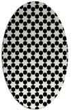 rug #922729 | oval white rug