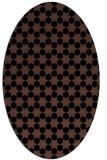 rug #922741 | oval black graphic rug