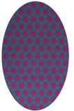 rug #922809 | oval blue-green popular rug