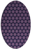 rug #922825 | oval purple geometry rug