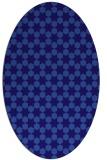 rug #922829 | oval blue-violet rug