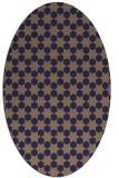 rug #922833 | oval beige graphic rug