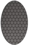 rug #922873 | oval brown rug