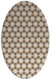 rug #922877 | oval mid-brown rug