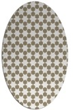 rug #922881 | oval white rug