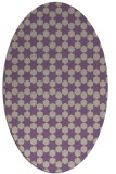 rug #922909 | oval purple graphic rug
