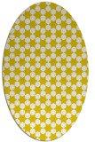 rug #923009 | oval white geometry rug