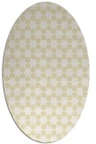 rug #923033 | oval white geometry rug