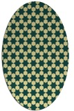 rug #923049 | oval yellow rug