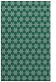 rug #923141 |  blue-green geometry rug
