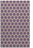 rug #923269 |  purple geometry rug