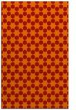 rug #923337 |  orange graphic rug