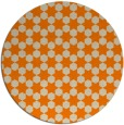 rug #923445 | round orange graphic rug