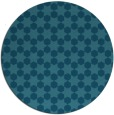 rug #923517 | round blue-green graphic rug