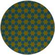rug #923525 | round green graphic rug