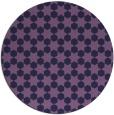 rug #923545 | round blue-violet rug