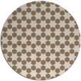 rug #923597 | round mid-brown popular rug