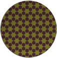rug #923681 | round green graphic rug