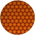 rug #923709 | round red-orange graphic rug
