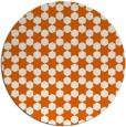 rug #923721 | round red-orange popular rug