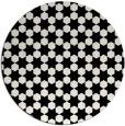 rug #923725   round white geometry rug