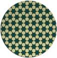 rug #923769 | round yellow graphic rug