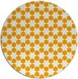 rug #923789 | round light-orange graphic rug