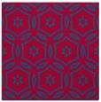 rug #926089 | square blue-green damask rug
