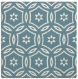rug #926261 | square blue-green damask rug