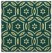 rug #926289 | square yellow circles rug