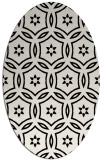 rug #926329 | oval black circles rug