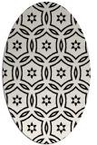 rug #926329 | oval white geometry rug