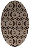 rug #926337 | oval beige circles rug