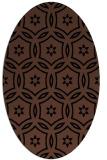 rug #926341   oval brown damask rug