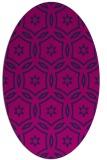 rug #926361   oval pink damask rug