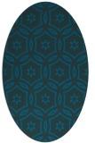 rug #926393 | oval blue damask rug