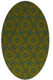 rug #926405 | oval blue-green circles rug