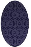 rug #926413 | oval blue-violet rug