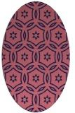 rug #926421   oval pink damask rug