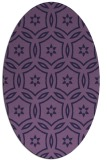 rug #926425 | oval purple geometry rug