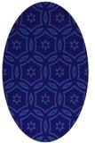 rug #926429   oval blue-violet damask rug