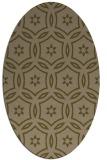 rug #926441   oval brown damask rug