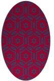 rug #926449 | oval blue-green circles rug