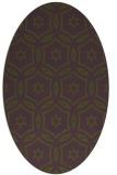 rug #926468 | oval circles rug