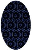 rug #926497   oval black circles rug