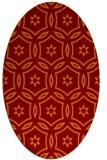 rug #926525 | oval orange circles rug