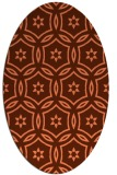 rug #926537 | oval red-orange damask rug