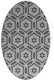 rug #926537 | oval orange circles rug
