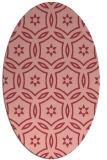 rug #926549   oval pink damask rug