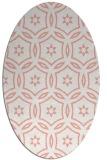 rug #926553 | oval white geometry rug